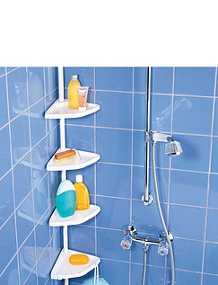 Telescopic Corner Shelf with 4 Shelves