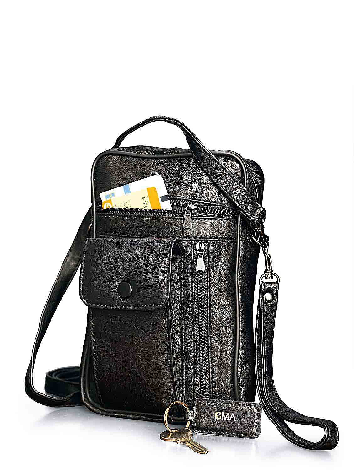 Leather Travel Wallet Bag - MULTI