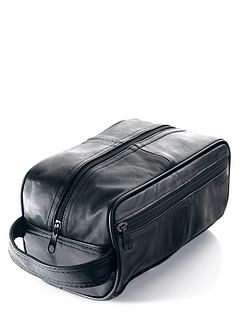 Mens Leather Washbag