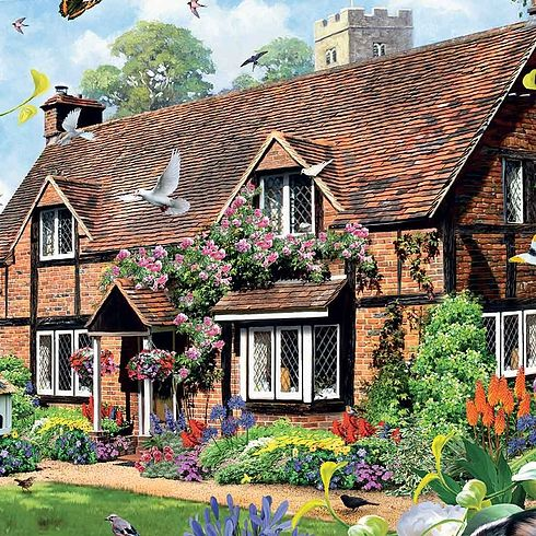 Rose Cottage New 1000pcs Jigsaw Puzzles