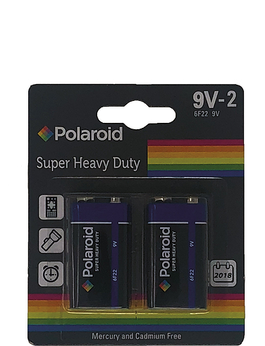 2 X 9V - Polaroid Quality Batteries