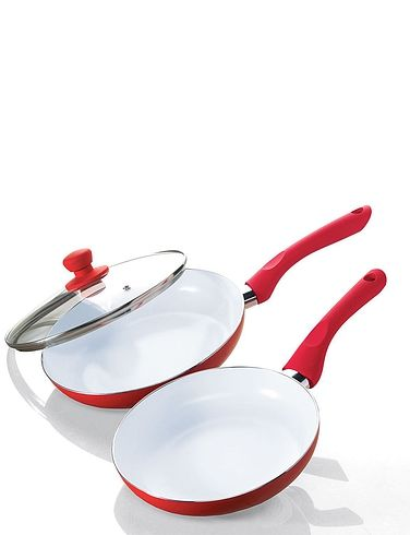 Non- Stick Set of 2 Ceramic Frying Pans