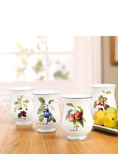 Orchard Fruit Belly Mugs Set
