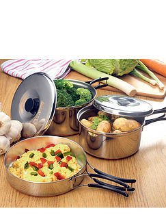 Stainless Steel Copper Based Pan Set