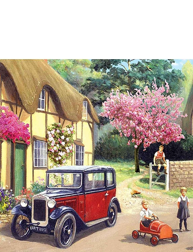 Gibsons Set Of 4 Out And About Jigsaw Puzzles