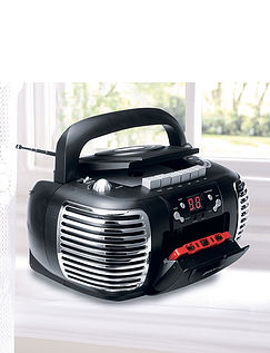 3-in-1 Groove Portable Retro Radio