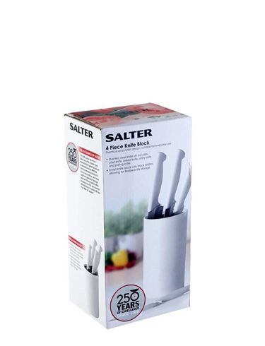 Salter Four Piece Belmont Knife Block