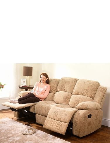 Buxton Manual Recliner Three Seater Settee
