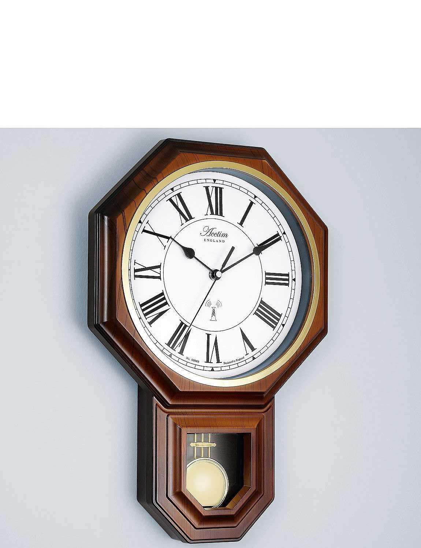 Radio Controlled Pendulum Wall Clock - MULTI