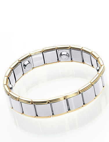 Two-Tone Hi-Power Magnetic Bracelet