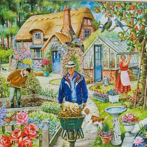 In The Garden 1000pcs Jigsaw