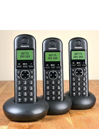 Panasonic Cordless Triple Handsets Telephones