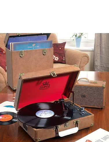 Attaché Suitcase Record Player
