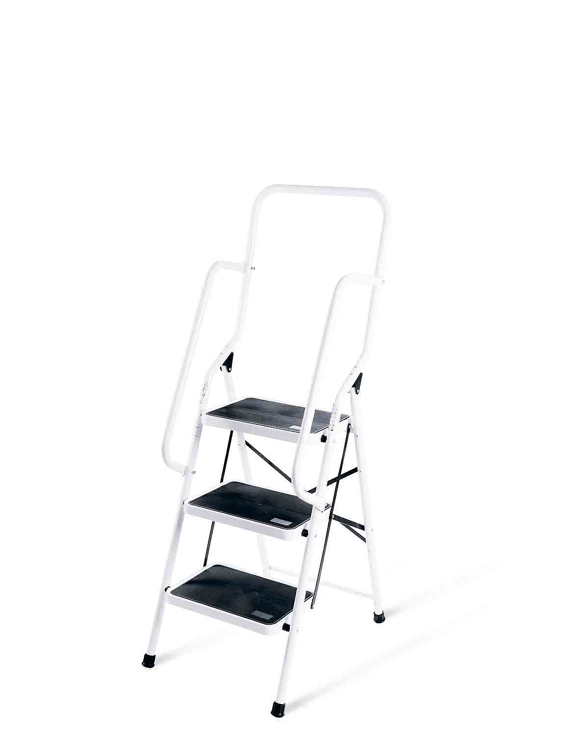 Three Step Ladder With Safety Rail - MULTI