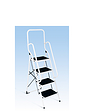 Four Step Stepladder With Safety Rails