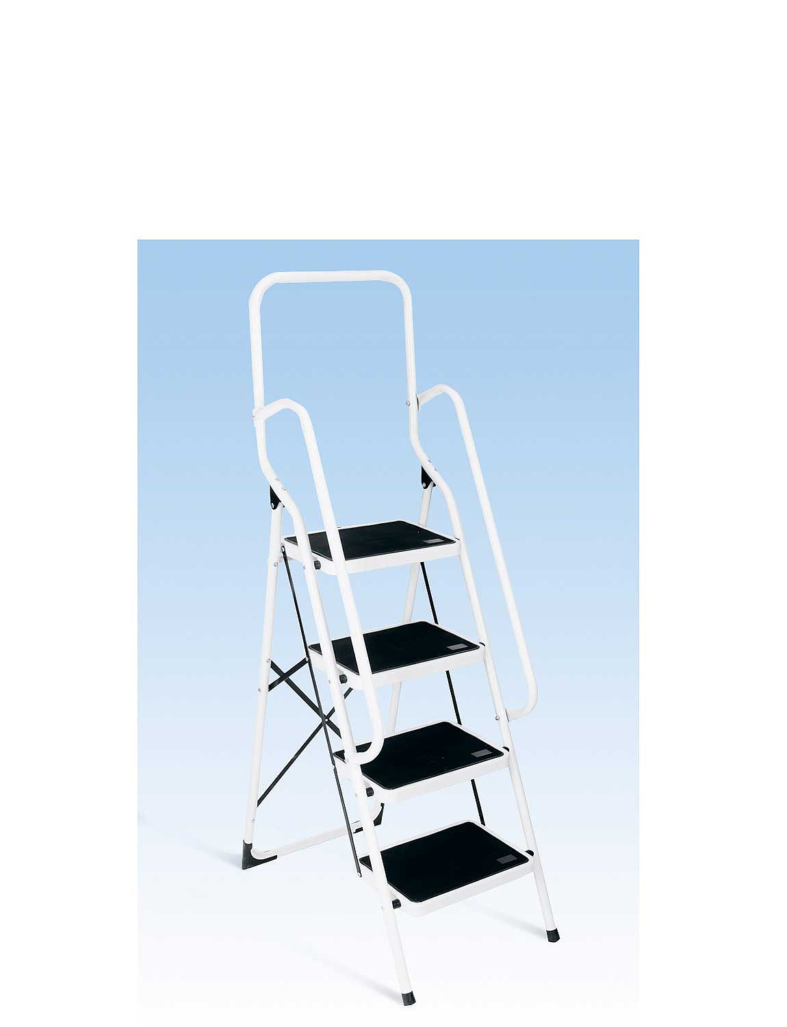 Four Step Ladder With Safety Rail - MULTI