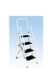 Four Step Ladder With Safety Rail