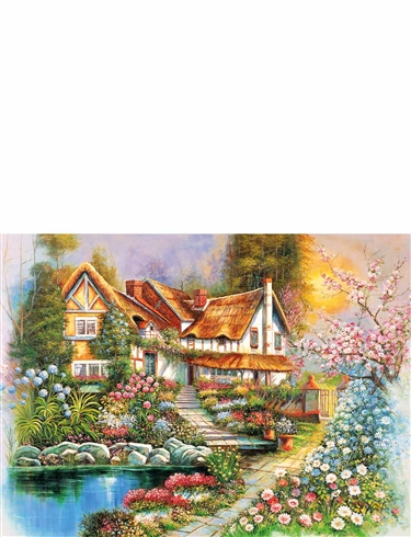 Country Cottages Boxed Set Of 4 x 500pc Jigsaw Puzzles
