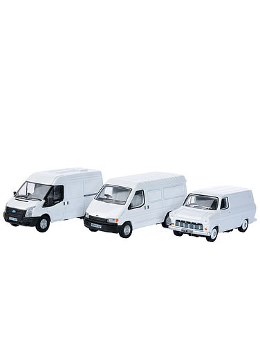 Set of 3 Ford Transit Vans