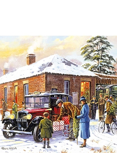 Winter About Town Boxed Set Of 4 x 800pc Jigsaw Puzzles