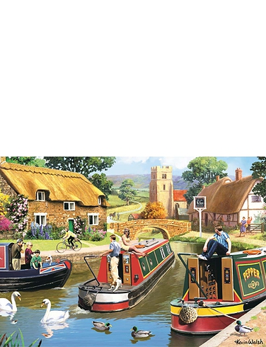 Busy Time on the Canal Jigsaw