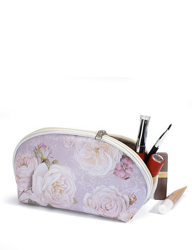 White Rose Cosmetic Bag