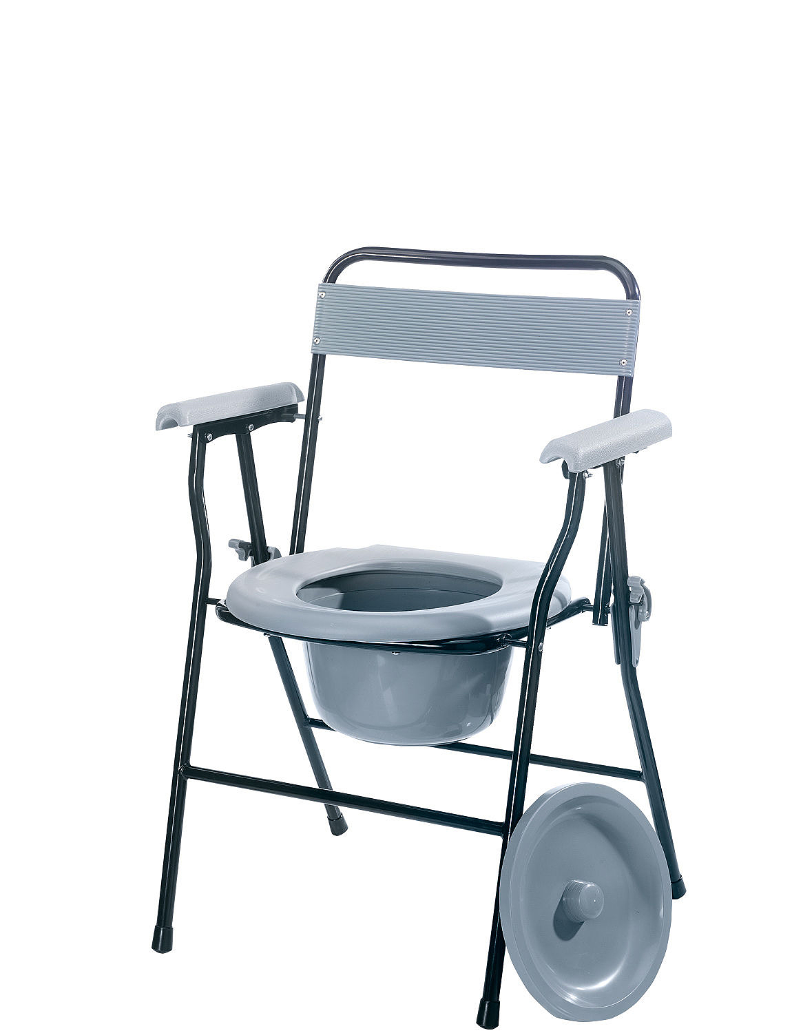Folding Commode - Grey