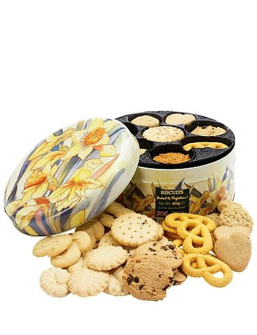 St Kew Daffodil Tin And Biscuits