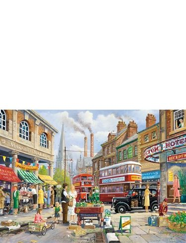 1000 pc Jigsaw Puzzle The Market Stall
