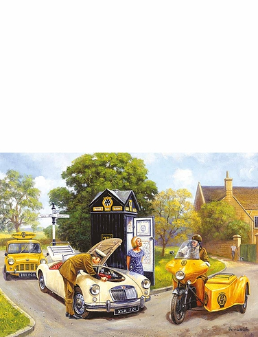 """Gibsons' """"Knights Of The Road"""" 500Pc Jigsaw Set Of 2"""