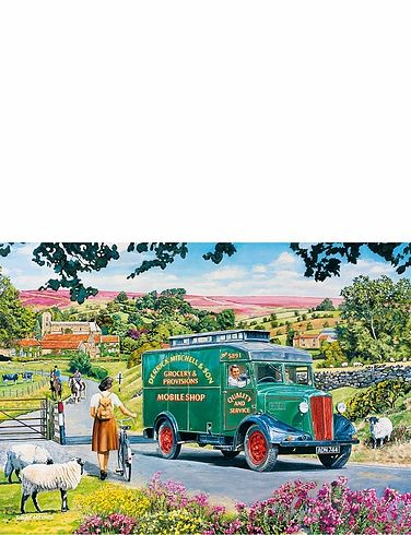 Boxed Set Of 4 x 500Pc Mitchells Mobile Shop Jigsaw Puzzles
