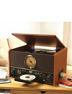 Gramophone Style 5-In-1 Music Centre