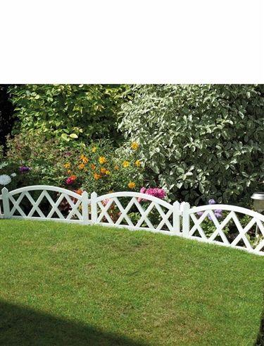 White Garden Fence Panels
