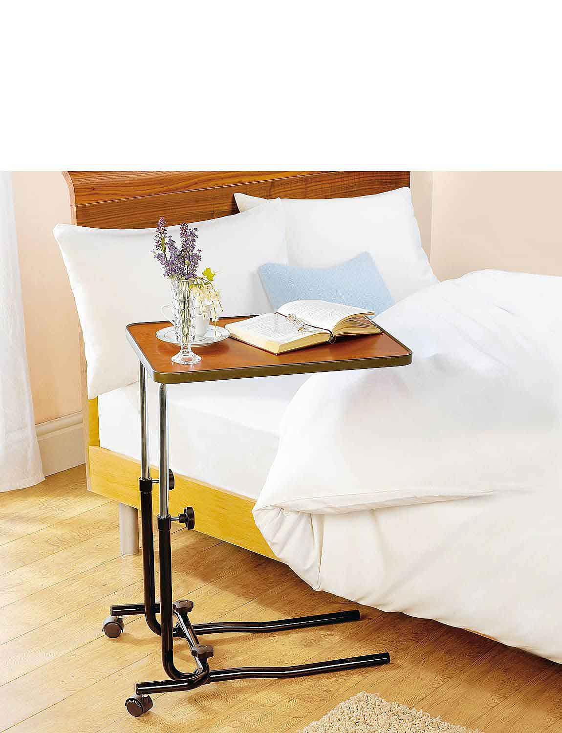 Over Chair/Bed Table With Castors - MULTI