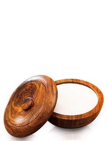 Wooden Shaving Bowl And Sandalwood Soap
