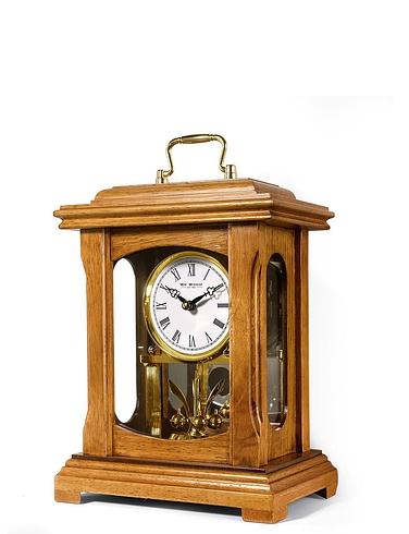 Real Wood LANTERN Mantle Clock