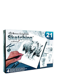 Set Of 4 Sketching By Numbers
