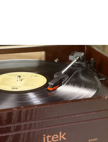 4-In-1 Gramophone Style Music System
