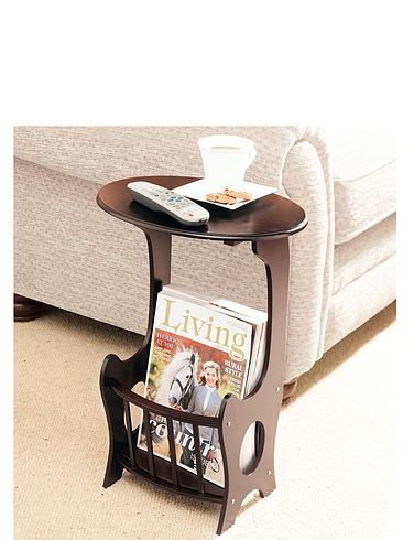 Sofa Side Table With Magazine Storage