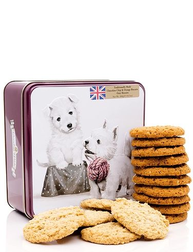 Westie Tin With Biscuits