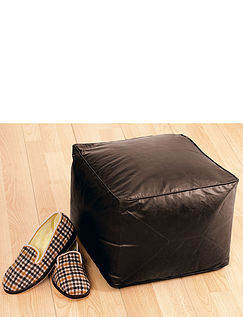 Faux Leather Pouffe
