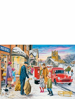 Gibsons Magic Of Christmas 4 x 500 Piece Jigsaw Puzzles