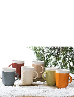 Set Of 6 Woolly Jumper Mugs