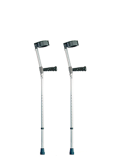 Extra-Long Double Adjustable Crutches