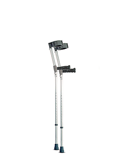 Extra Long Feather Light Double Adjustable Crutches