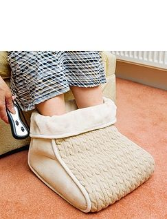 Knitted Foot Warmer & Massager