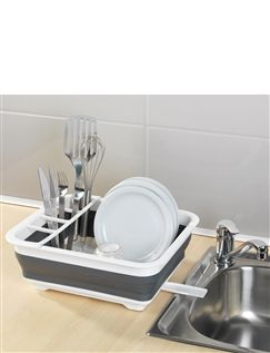Fold-Flat Dish Drainer