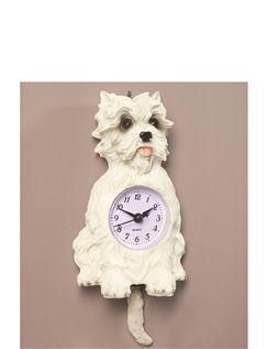 Scotty Dog Pendulum Wall Clock