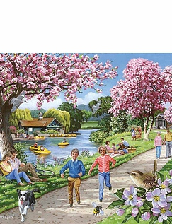 Apple Blossom Time Extra Large Jigsaw