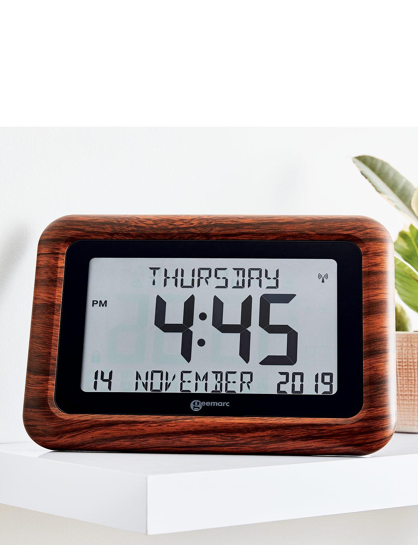 Big Number Digital Clock  - Mahogany